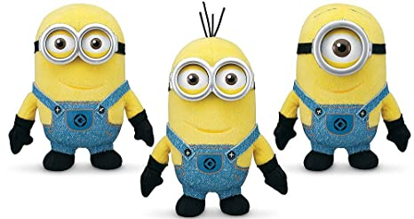 Despicable Me 2 Plush Buddies Exclusive 3 Pack With Minion Stuart, Minion  Bob And