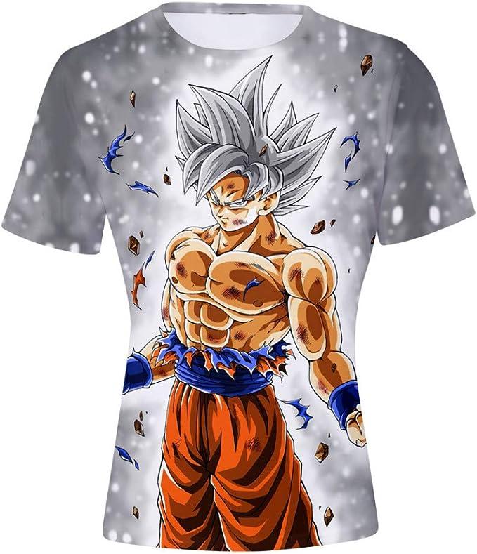 Dragon Ball Goku Niños Niña Camiseta 3D Impresión Moda T-Shirt Manga Corta: Amazon.es: Ropa y accesorios