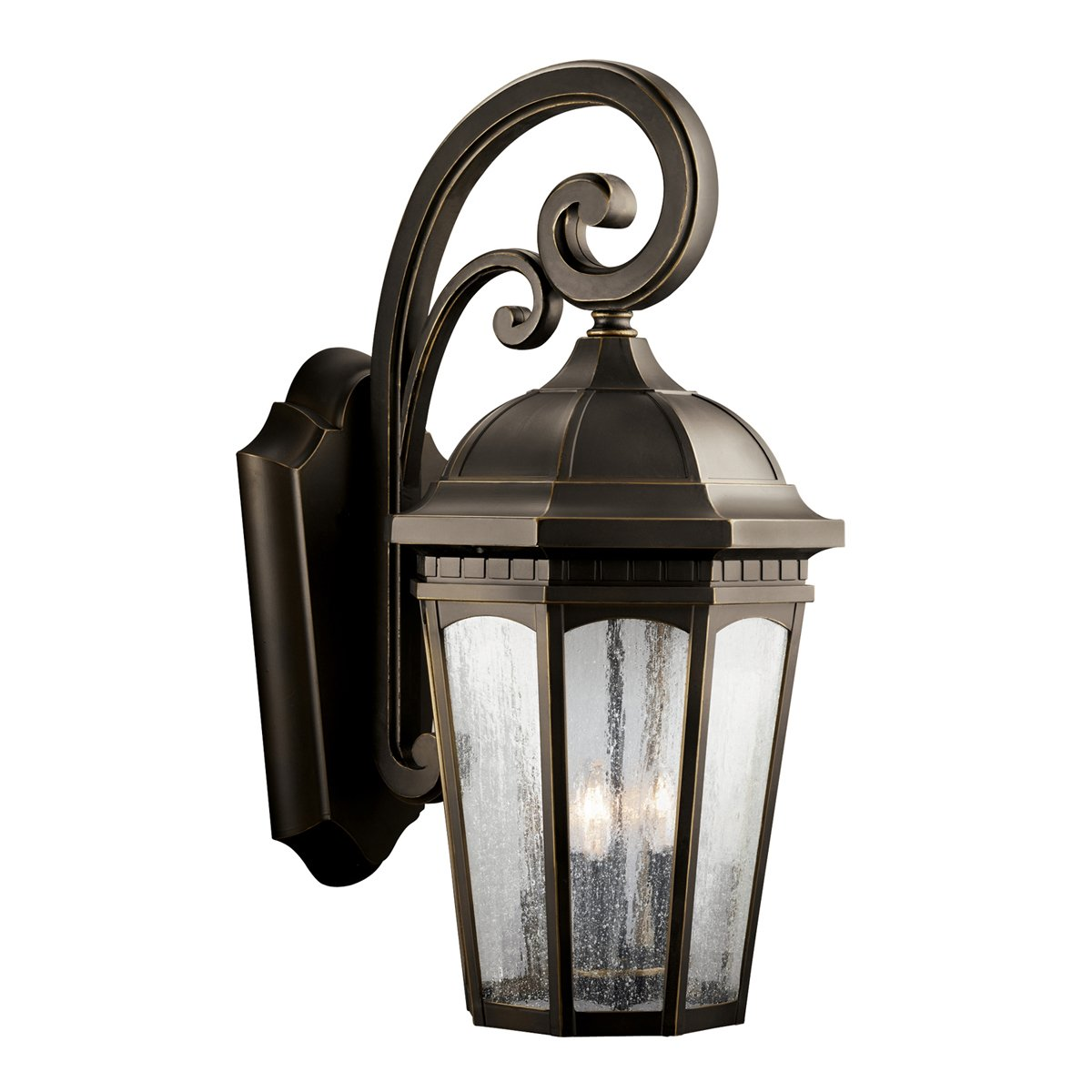 Kichler Lighting 9032BKT Courtyard 1 Light 11 Inch Outdoor Wall Lantern  with Etched Seedy Glass  Textured Black Finish   Wall Porch Lights    Amazon comKichler Lighting 9032BKT Courtyard 1 Light 11 Inch Outdoor Wall  . Kichler Lighting Outdoor Sconce. Home Design Ideas