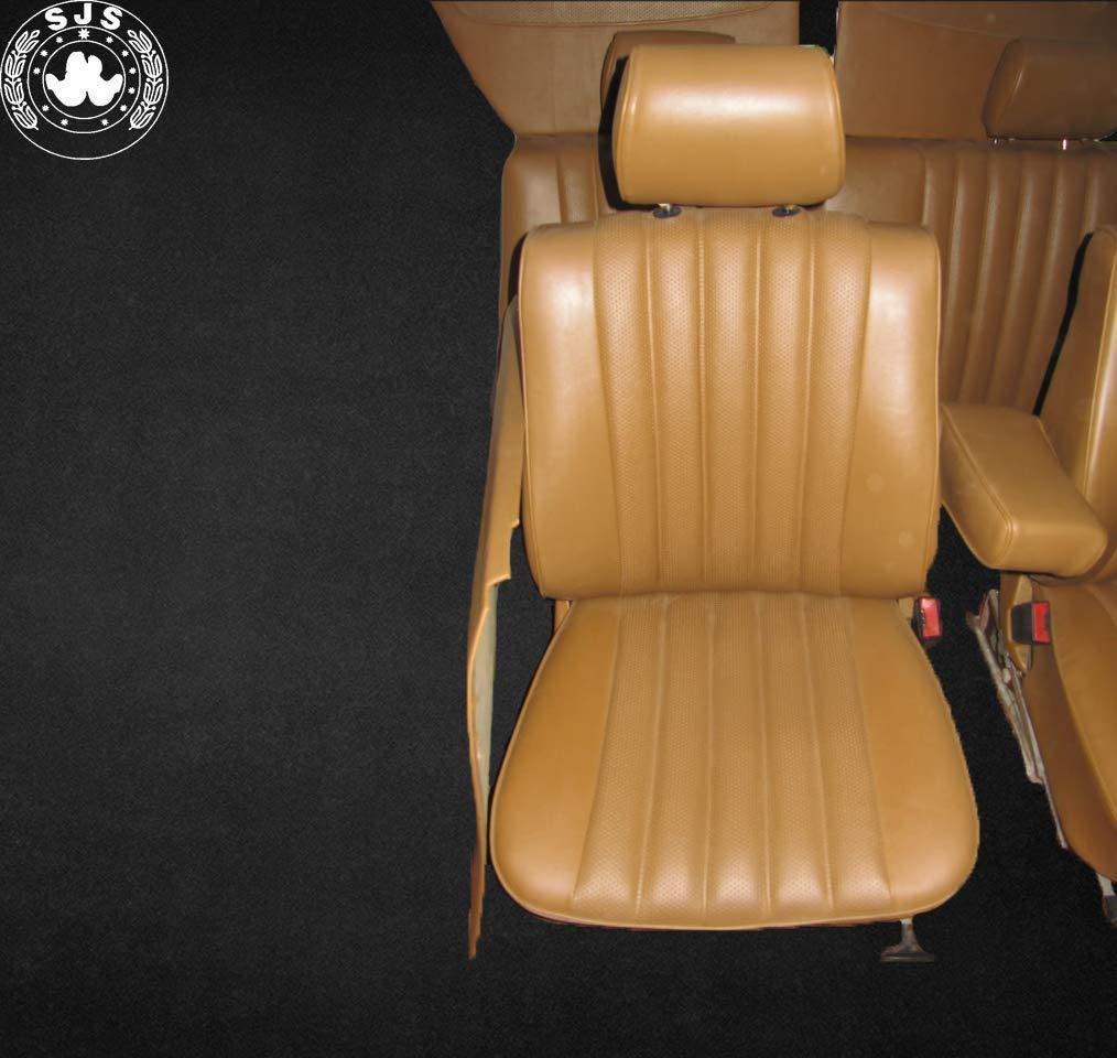 Sitzbezug klimatisierend schwarz für Mercedes 123 W123 Stufenheck Limousine 4-tü