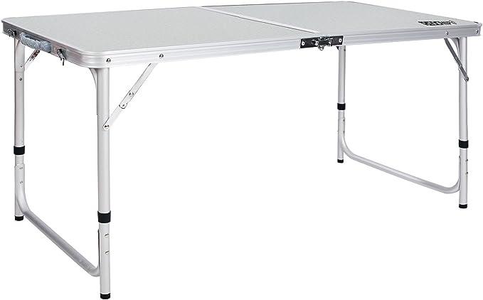 REDCAMP Mesa Plegable de Aluminio de 4 pies, portátil y Ajustable ...