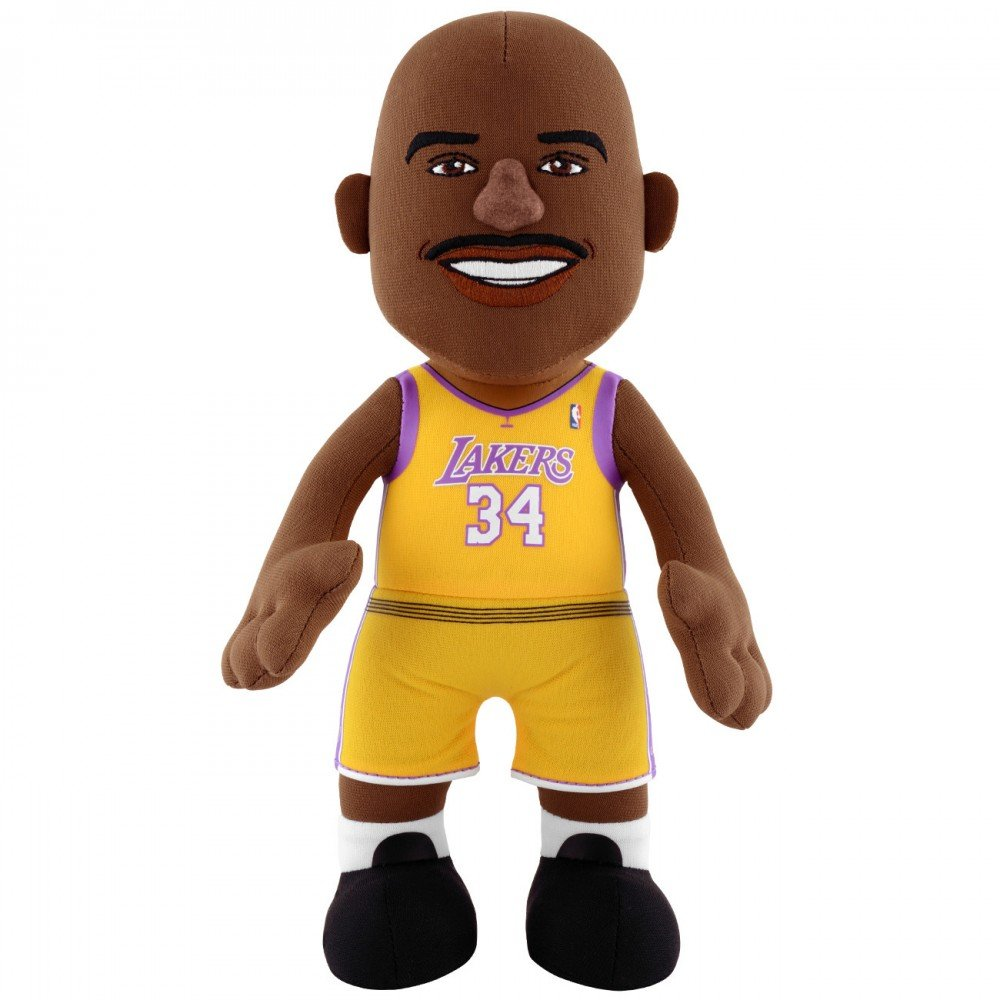NBA Los Angeles Lakers Shaquille O'Neal 10-inch Plush Figure by Bleacher Creatures Poupluche EPLUNBAH10LAKSON