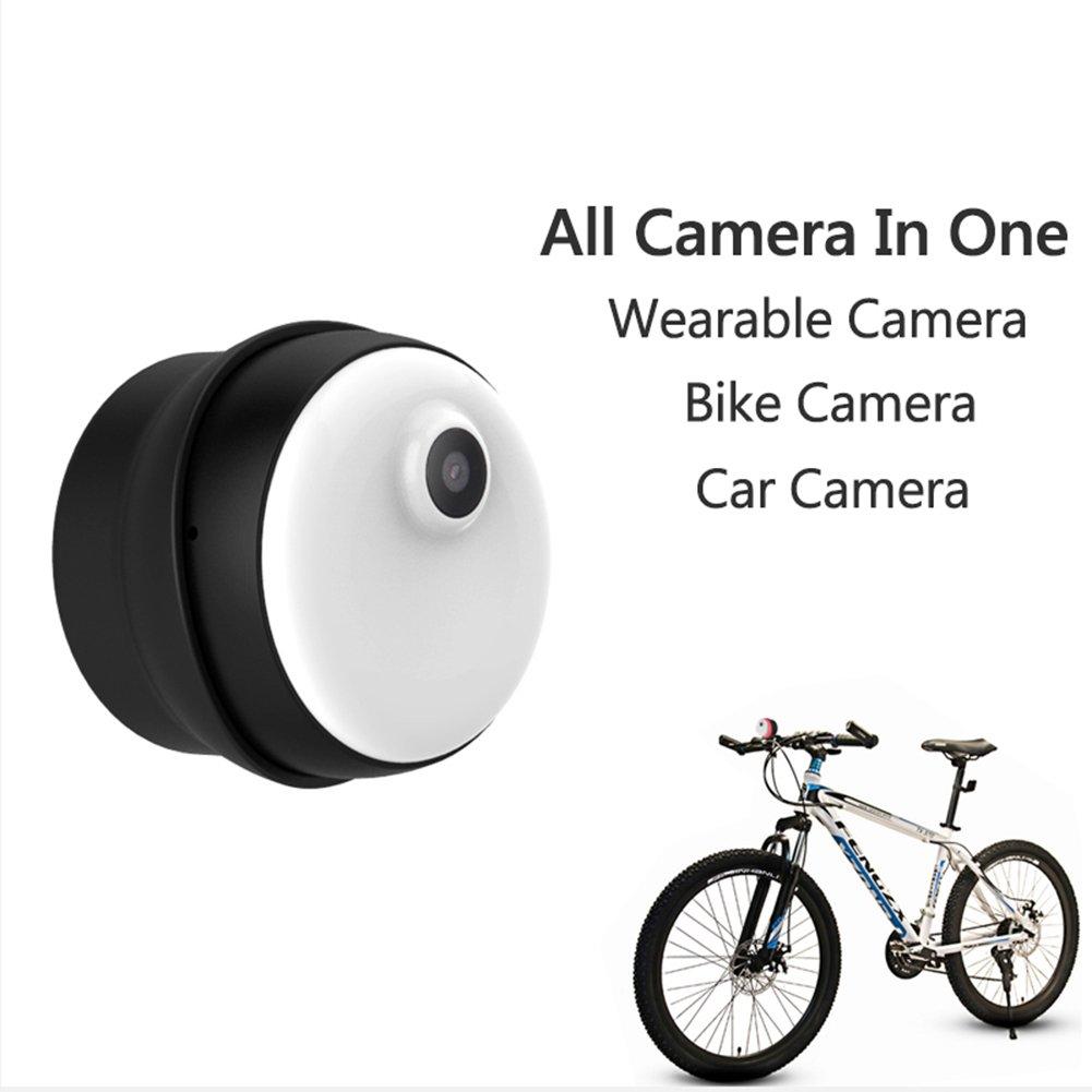 1080Pワイヤレスwifiミニカメラ屋内屋外オフィスまたは車のビデオレコーダー監視ポータブル多機能小型セキュリティ隠しスパイカメラ,Black B07DYLZTPH Black Black