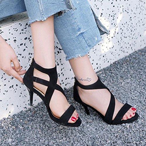 Stiletto Mode Sandali Zanpa Gladiator Donna Purple gpqqfZx
