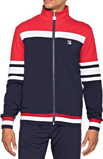 29b96da4ee72 Mens Fila Vintage White Line Courto Peacoat Navy Retro Track Jacket S -  2XL  Amazon.co.uk  Clothing