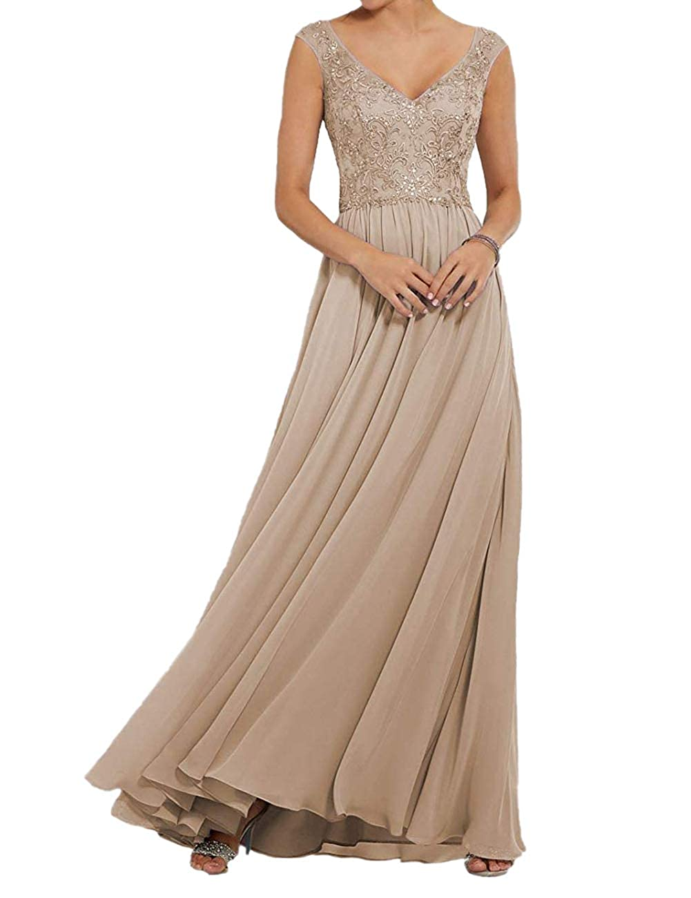 Champagne ASBridal Prom Dresses Long Sequin Quinceanera Dres Backless Formal Evening Gown with Sash