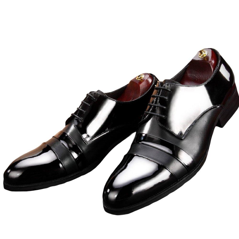 Herren Derby Echtes Leder Schuhe Lace Ups Schuhe Formale Schuh Brogues Für Männer Business Hochzeit Abendgesellschaft Oxford Gentleman Schuhe schwarz3
