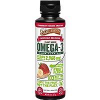 Barlean's Seriously Delicious Omega-3 Flax Oil, Strawberry Banana Smoothie, 8-oz