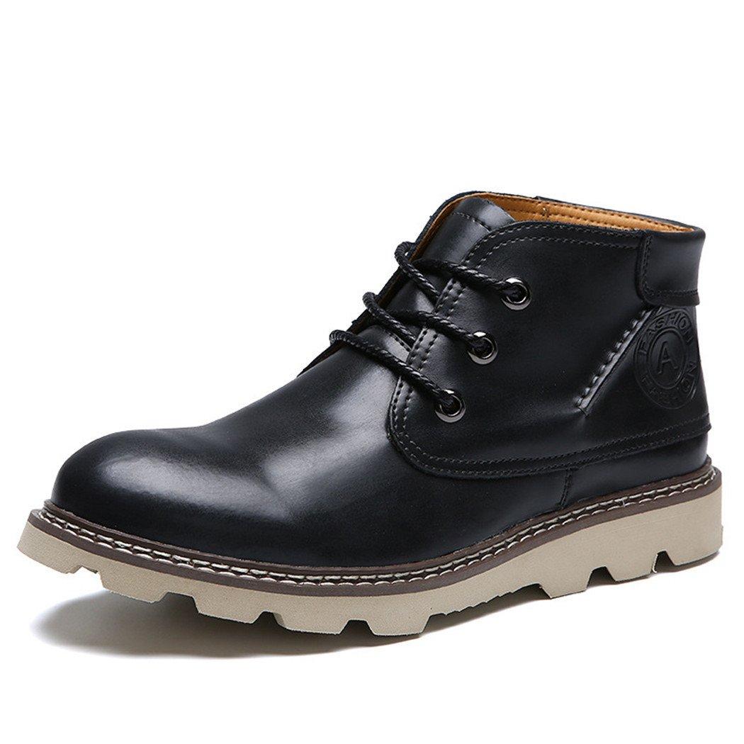 ZQ@QXHombre de invierno para aire de ocio al aire libre Martin botas zapatos,negro,44 44|black black