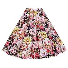 Eyekepper High Waist Vintage A Line Midi Skirt L