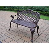 Oakland Living Summer Rose Love Seat Settee, Antique Bronze