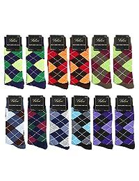 Falari Men Cotton Dress Socks 12-Pack