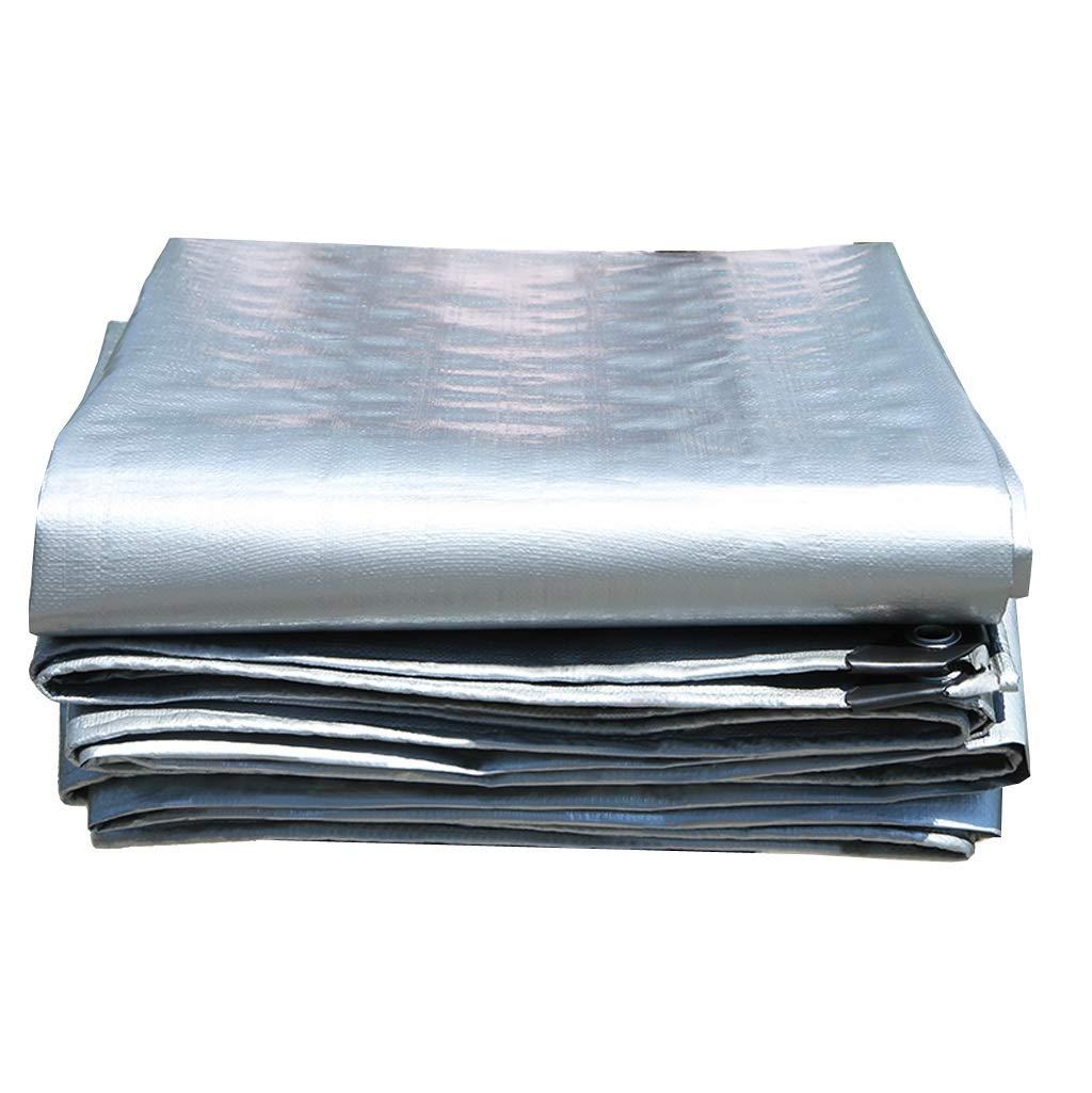 5x10m HU Tentes grises de Tente de bÂche de Prougeection Solaire imperméable extérieure de Prougeection Solaire pour Le Camion (bÂche de Camping, Toit ou Piscine bÂche de Soleil (0.35mm180g    )