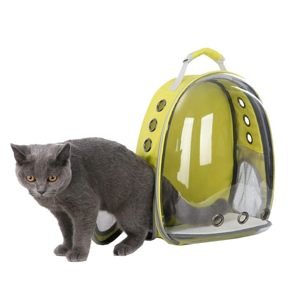 G3 CXka Cat Carrying Backpack, Space Capsule Outdoor Pet Backpack for Small Dog, Polarized Transparency AntiGlare & UV Predection Waterproof Cat Holding Backpack