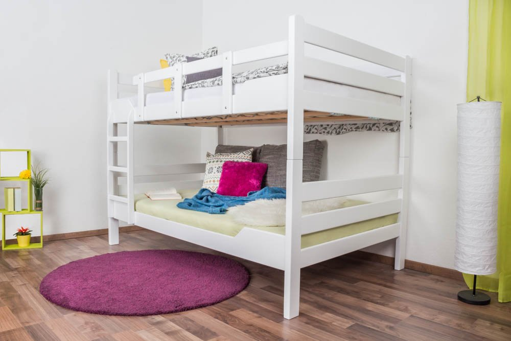 Etagenbett Teilbar Weiss : Kinderbett etagenbett johann buche vollholz massiv weiß lackiert