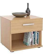 IDIMEX Table de Chevet MAEL, Table de Nuit casier avec 1 tiroir et 1 Niche, en mélaminé