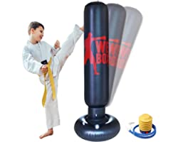 63inchInflatable Punching BagHeavy Duty Freestanding Punching Bag for Boxing Practicing Karate TrainingBoxing Punching Traini