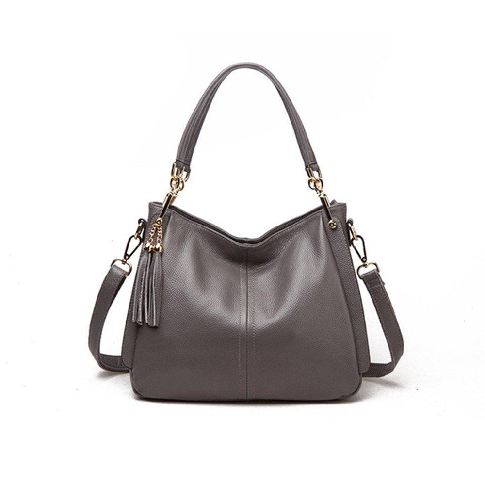 Meaeo Umhängetasche, Umhängetasche, Umhängetasche, Handtasche, Umhängetasche, Dual-Use-Tasche, Pu-Tasche, Mode, Einfach, Grau B07GJL4LHS Schultertaschen Kunde zuerst a6887b