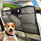 TPSKY Pet Barrier, Dog Car Barrier Seat Mesh Obstacle, Oxford Cloth Dog Backseat Barrier Adjustable Divider to Keep Driver Safety, Easy to Install for Car