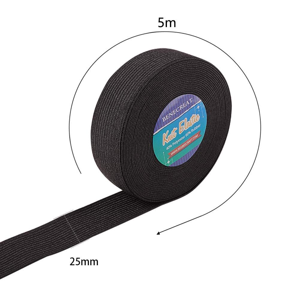 37 Yards Ribbon Elastic Foldover Elastici Stretch Foldover FOE Elastici per Hair Ties Fasce BENECREAT 34M 34 Colori per 1 M