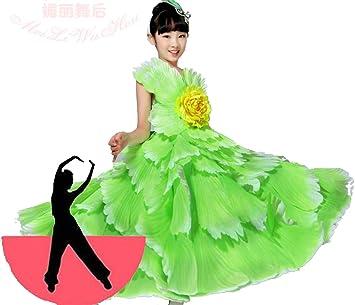 SMACO Vestido español para niñas Baile Flamenco Faldas ...