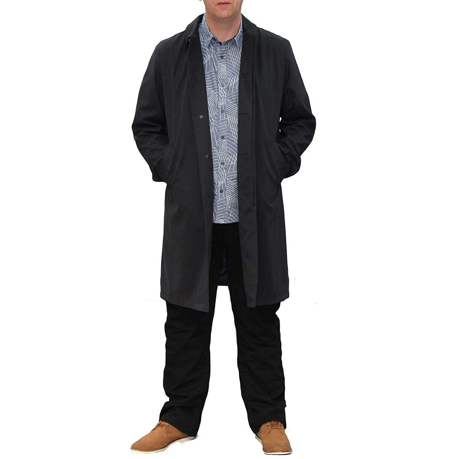 Men's Harry Brown Big Size Black Rain Coat 2X - 6X