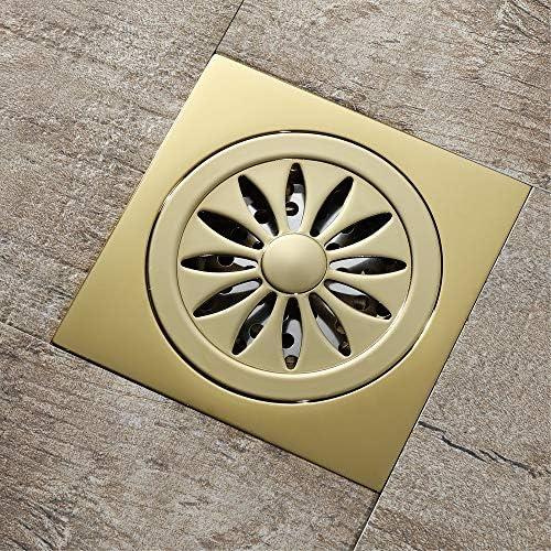 Bodenablauf Antike Messing Alle Kupfer Champagner Gold Deodorant Badezimmer Bodenablauf 100x100x41mm für Badezimmer Dusche Zimmer Toilette Wäscherei Ga ( Color : Metallic , Size : 100x100x41mm )