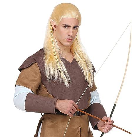 Peluca de fantasía Elfo para Hombre / Rubio / Fabulosa Peluca para Carnaval Arquero / Apropiado