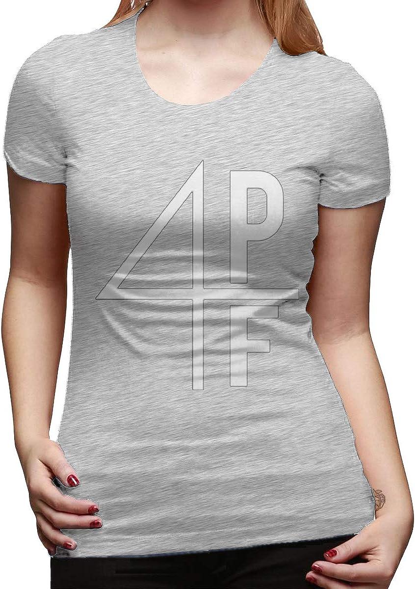 Camiseta básica de algodón de Manga Corta para Mujer, Color Gris ...