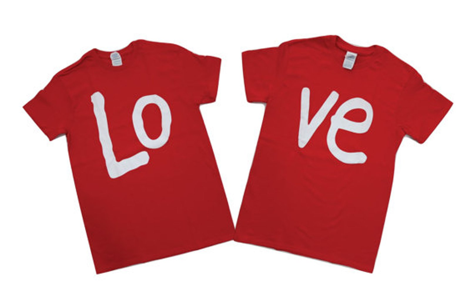 LOVE Mr & Mrs His and Hers Gift for Couples Wedding, Anniversary, Newlywed Matching Set T-Shirts (Mens XL / Womens L)