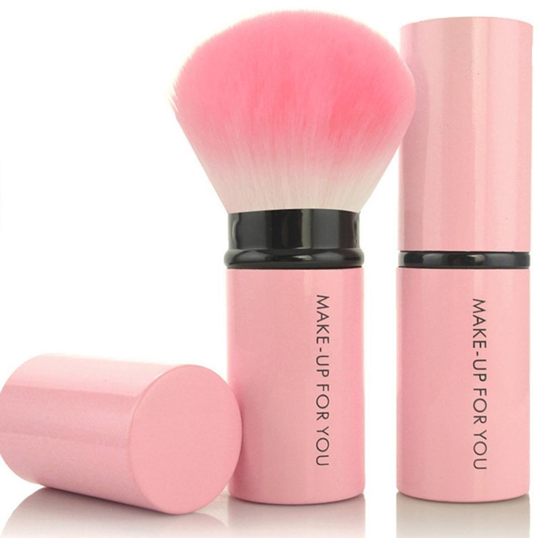 Pinceau Maquillage CosméTique Professionnel Kits, 1 PC CosméTique Fondation Kit De Pinceau De Maquillage CosméTique Kabuki Blush Foundation Poudre RéTractable (H) Kaiki