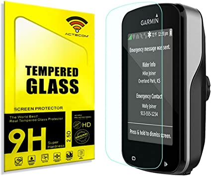 3X Protector de Pantalla para Garmin Edge 820 Cristal Vidrio Templado Premium