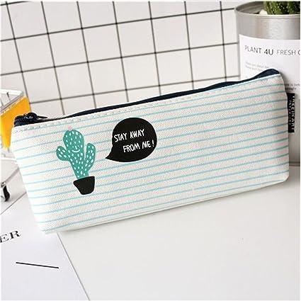 GOOTRADES Caja de Escritorio Estuches Lápices Bolsa de Lápices Plumas Bolígrafos Material Lona para Escolar Papelería Escuela (1)