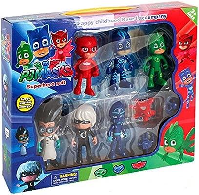 PJ Masks - Pack de 6 figuras y 3 armas: Gatuno, Buhíta ...