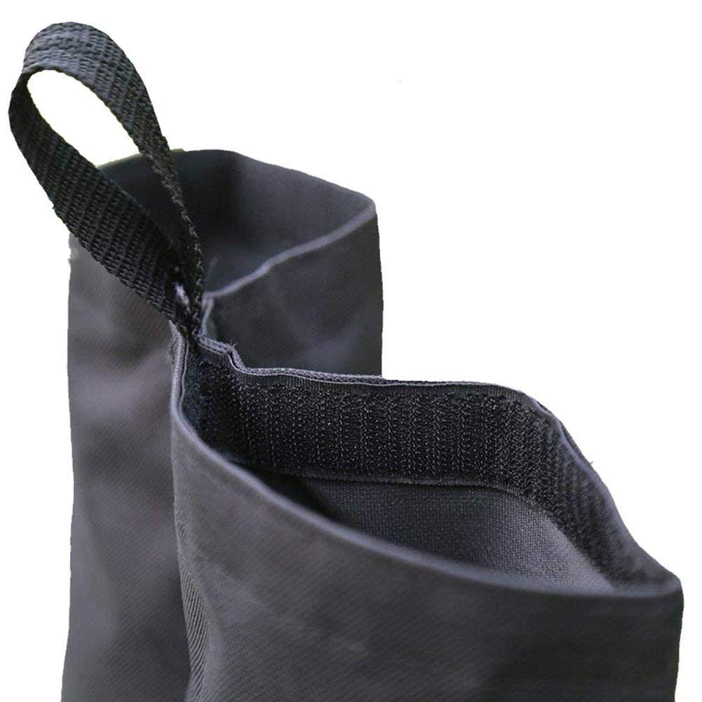 Negro fridaymonga Bolsas De Peso De Dosel,4 Paquetes De Tela Oxford A Prueba De Viento Pesas para Las Piernas Bolsas De Arena para Pop-up Carpa Carpa Gazebo Parasol Bolsa De Pies Pesados