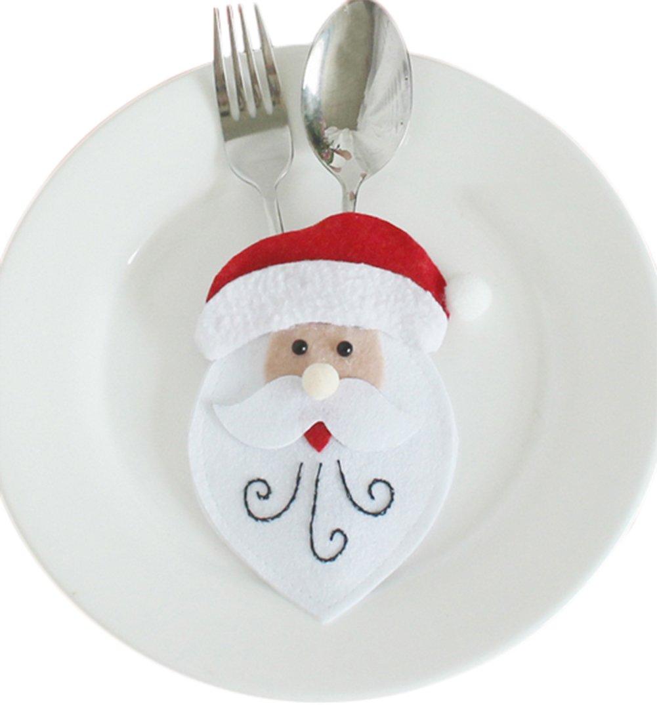 LeisialTM Bolsillos para Cuchillos y Tenedores de Navidad ...