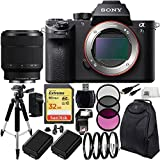 Sony Alpha a7S Mark II a7S II a7SII ILCE7SM2/B Mirrorless Camera + Sony FE 28-70mm f/3.5-5.6 OSS Lens 19PC Bundle Includes SanDisk 32GB Extreme SDHC Memory Card + 2 Replacement FW-50 Batteries + MORE