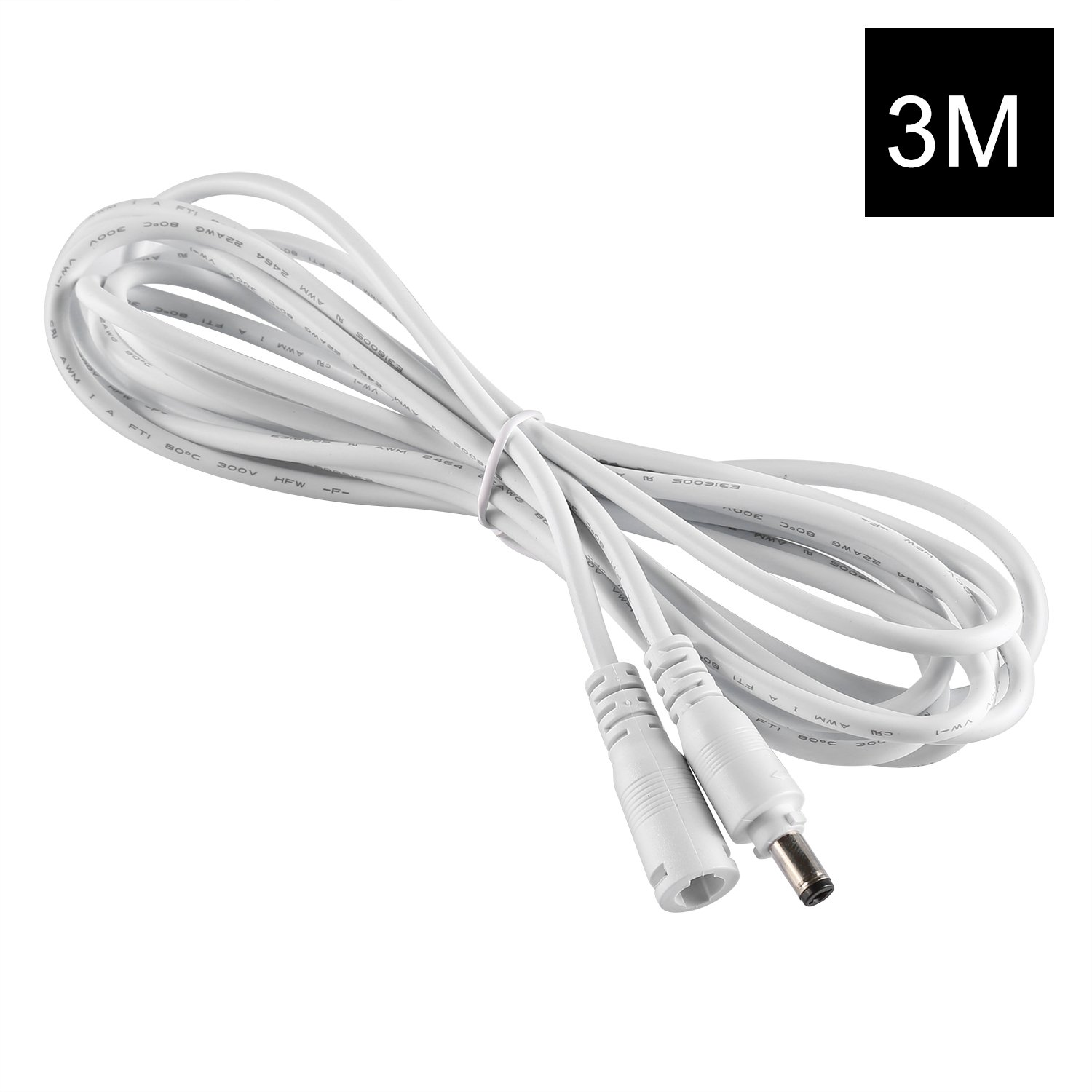 YOUKOYI 3M 2.1x5.5mm DC 12v Energieverlängerungs-Kabel: Amazon.de ...