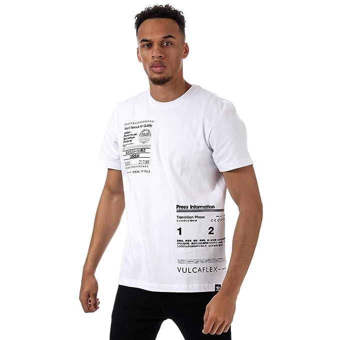 adidas Originals - Camiseta - para Hombre Blanco Blanco XS