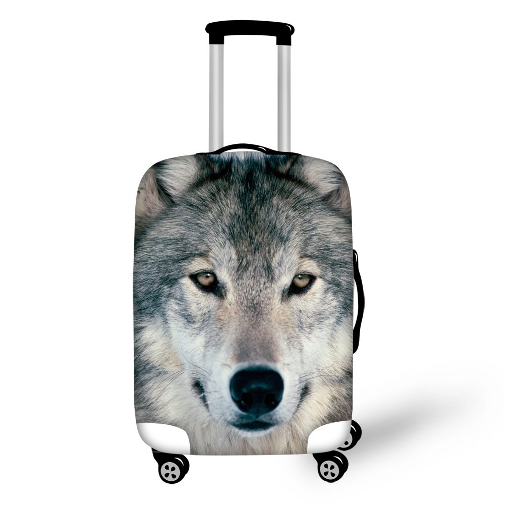 Gopumchy Tibetischer Wolf 3D Bedruckte Cover Gepäckabdeckung Koffer Abdeckung für Reisegepäck deckt Schutzhülle Kofferschutzhülle Gepäck Cover Reisekoffer Hülle Kofferschutz Luggage S(18'-20')