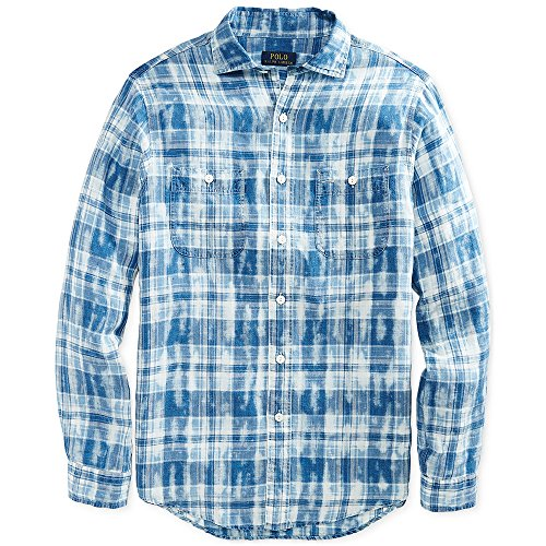 Polo Ralph Lauren Men's Plaid Linen Workshirt - Polo Ralph Plaid Lauren
