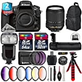 Holiday Saving Bundle for D810 DSLR Camera + 18-140mm VR Lens + Flash with LCD Display + Battery Grip + 64GB Class 10 Memory Card + 6PC Graduated Color Filer Set - International Version