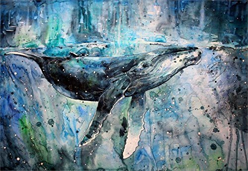 Tomorrow sunny 24X36 INCH / ART SILK POSTER / whales artwork