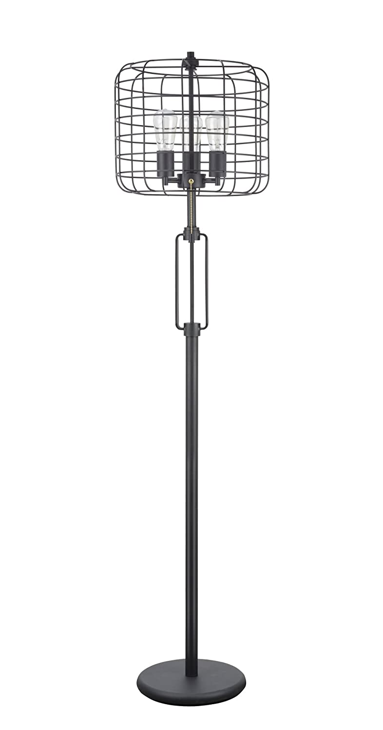 Sand Black 63  Height Floor Lamp Aspen Creative 40086, Wire Cage Metal Table Lamp, Vintage Design in Sand Black 26  High, Height