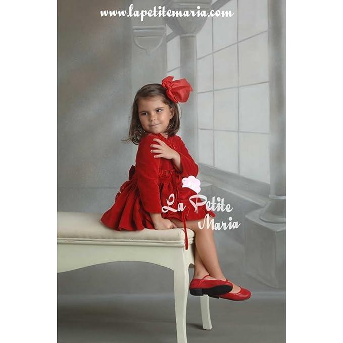 MARITA RIAL - Vestido vuelo estampado cachemir y topitos rosa palo, de Marita Rial -