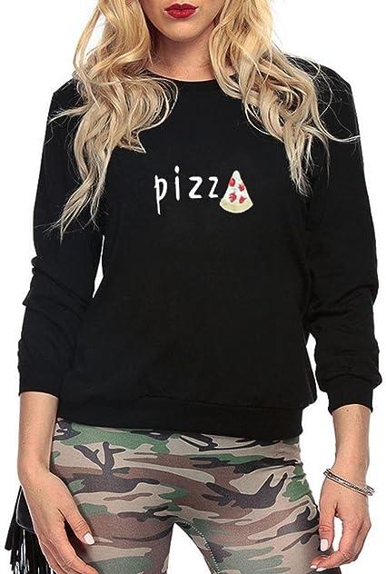 sweat shirt femme pizza