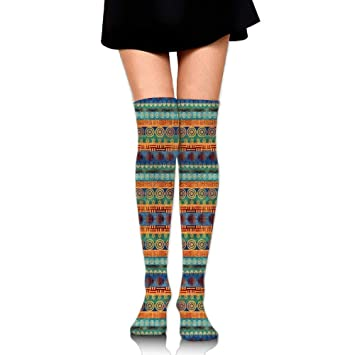 RGFJJE Calcetines Altos African Stripe Unisex Compression Socks Knee High Socks for Running, Nurses,