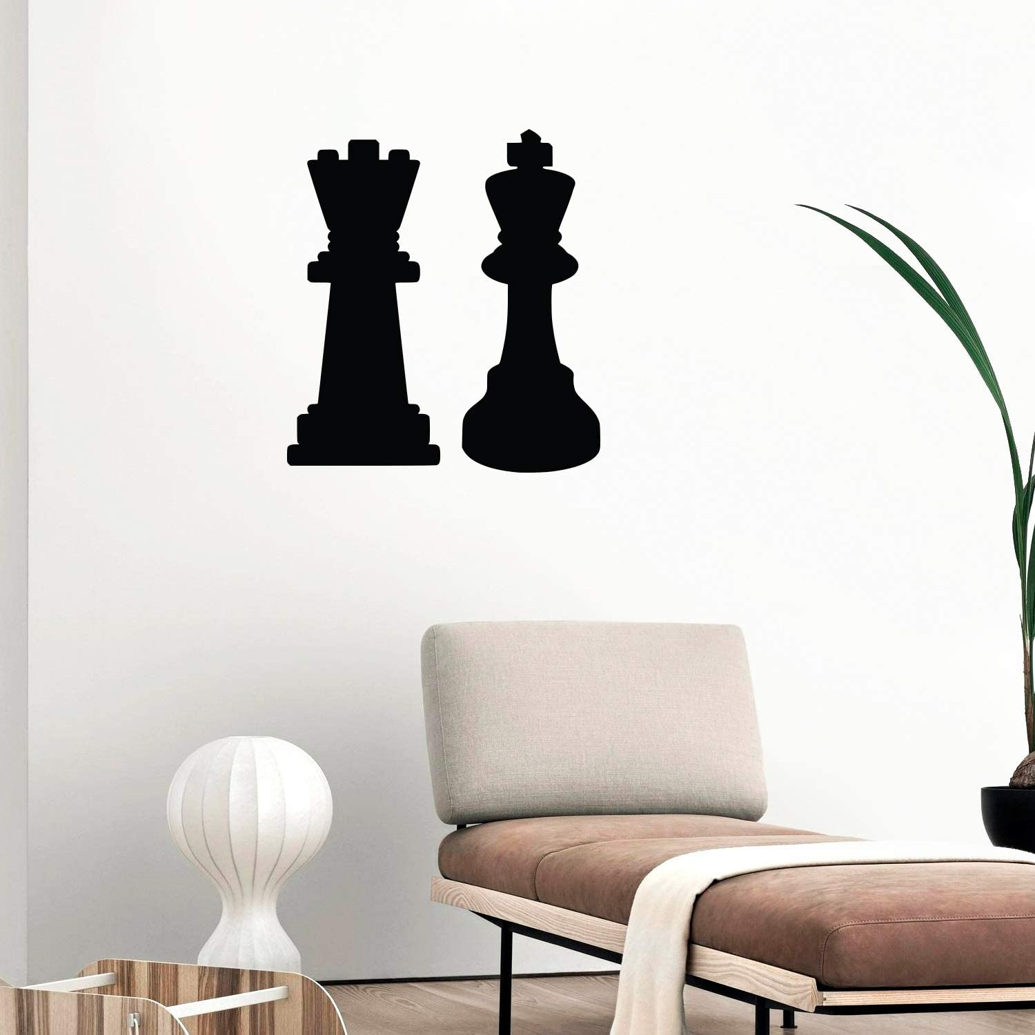 Imprinted Designs King and Queen Chess Set Wall Decal Sticker Art
