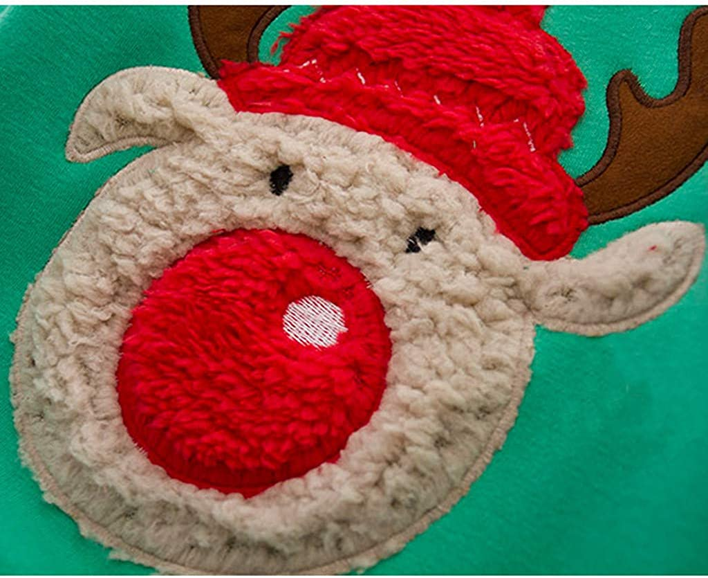 Toddler Long Sleeve Merry Christmas Cute Elk Printed Pullovers Fleece Lined Tops Xmas Gift for Children BURFLY-Kid Christmas Reindeer Sweatshirts Jumper for Girls