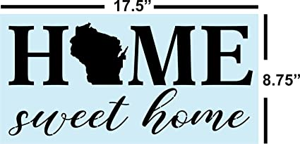 Wisconsin Stencil Love your Home State- Wisconsin Home Pride Stencil Housewarming Gift DIY Art Stencil